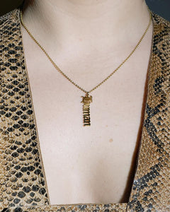 human nameplate necklace