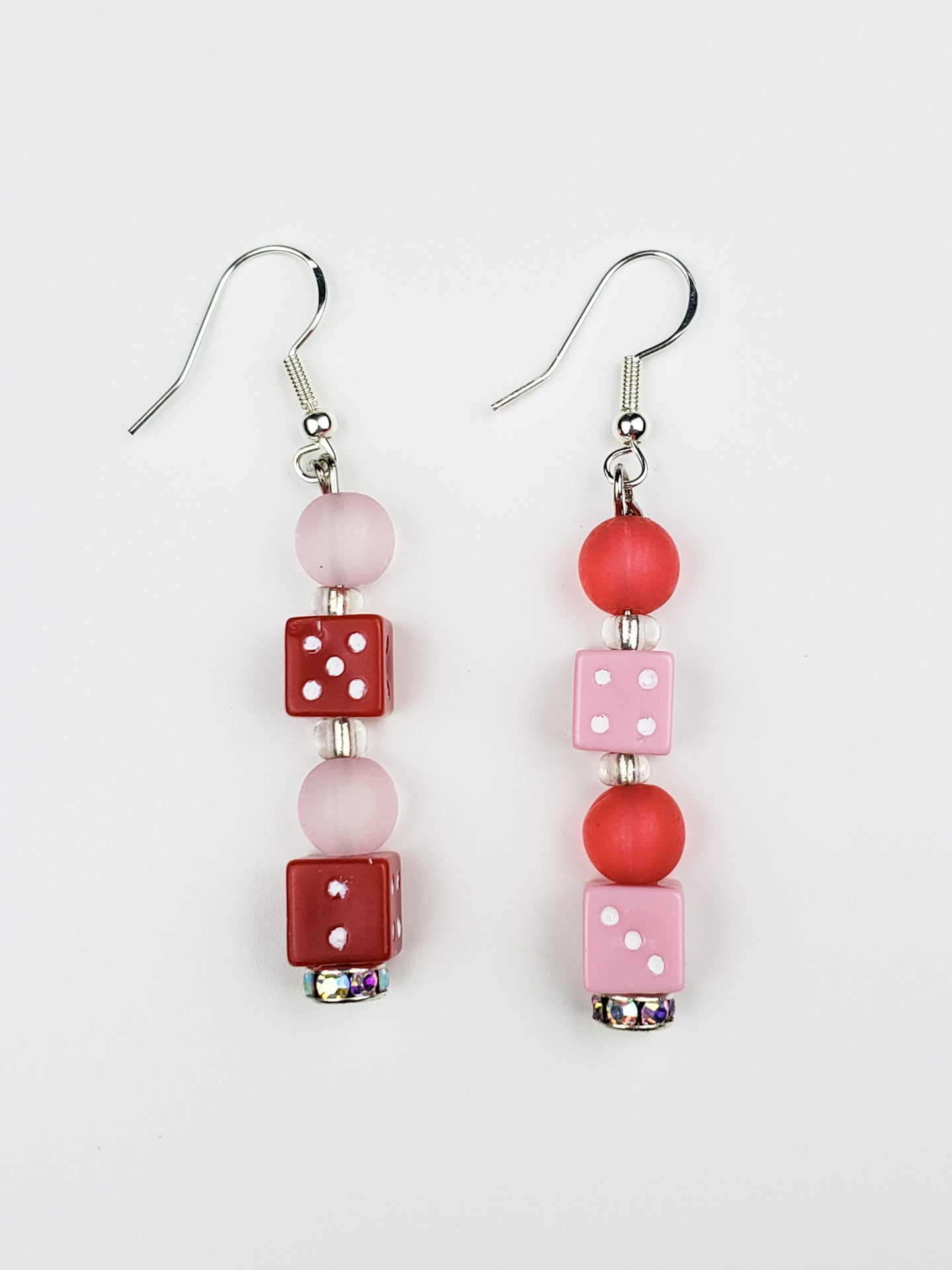 dicey red + pink