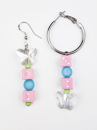 dicey mix match earrings