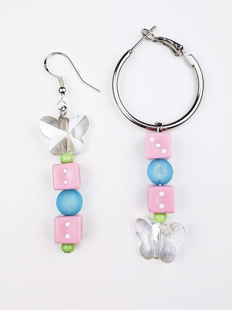Load image into Gallery viewer, dicey mix match earrings
