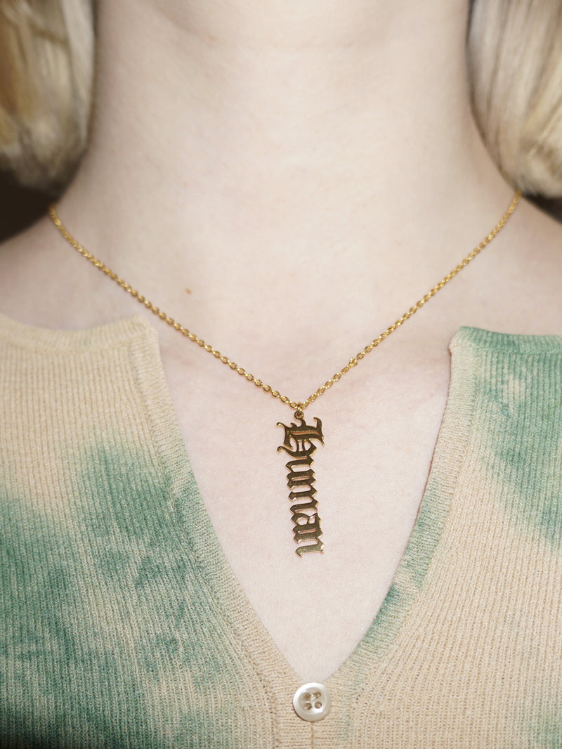 Load image into Gallery viewer, human nameplate necklace