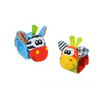 Load image into Gallery viewer, Wrist & Foot Sock Rattle Toy Set
