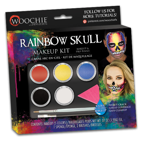 RAINBOW SKULL WATER ACTIVATED MAKEUP KIT