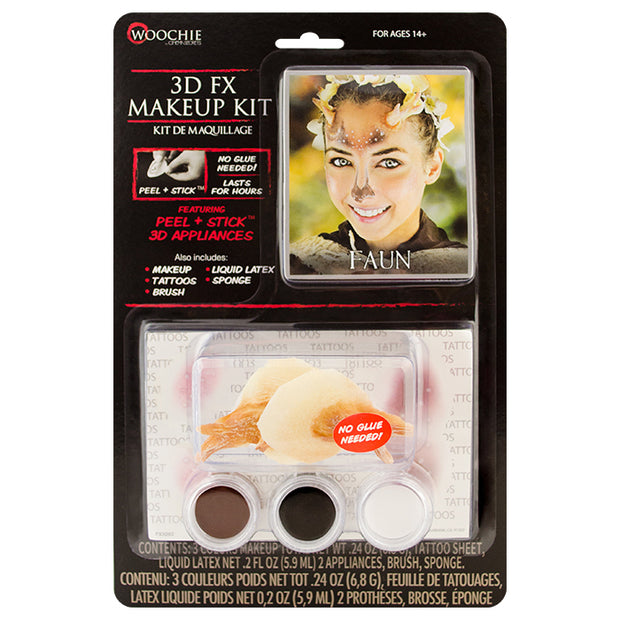 Faun 3D FX Makeup Kit (Peel & Stick)