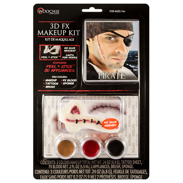 Pirate 3D FX Makeup Kit (Peel & Stick)