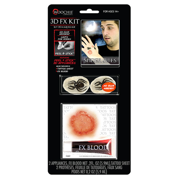 Spider Bite 3D FX Kit (Peel & Stick)