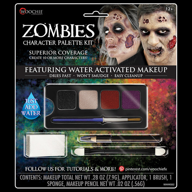 ZOMBIE CHARACTER WATER ACTIVATED M/U KIT