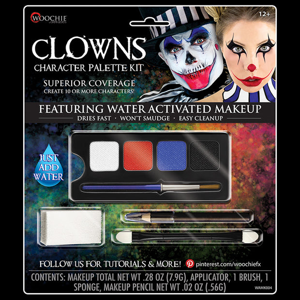 CLOWN CHARACTER WATER ACTIVATED M/U KIT