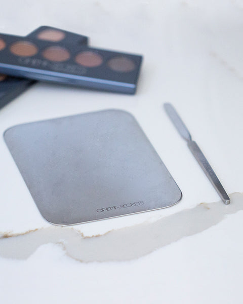 Stainless Steel Palette & Spatula Combo