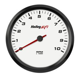 HOLLEY EFI 4-1/2 TACHOMETER, 0-10K RPM, CAN, WHITE