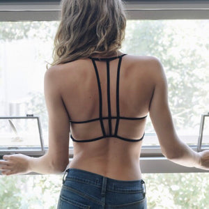 Open Back Strappy Bralette - Coffee Clothing Company