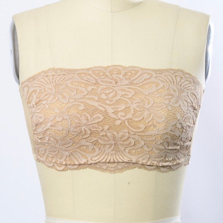Lace Bandeau Bralette - Coffee Clothing Company