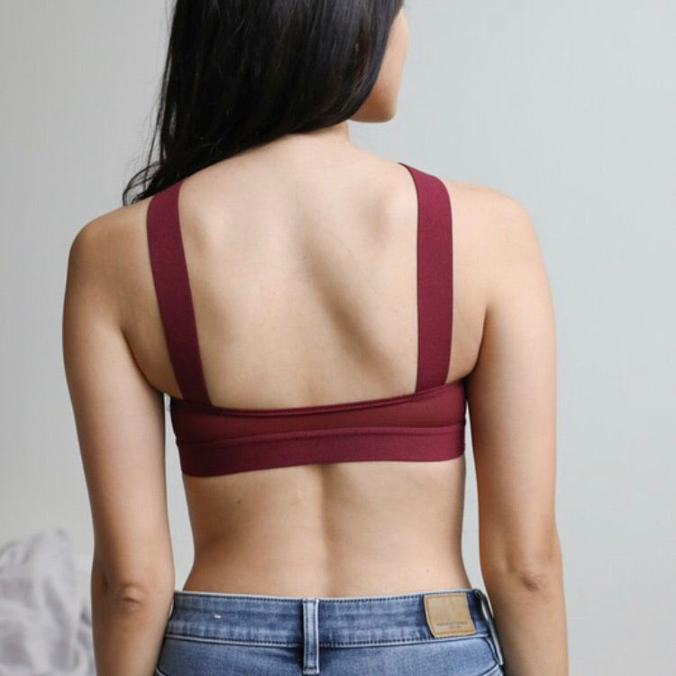 Cross Strap Bandeau Bralette - Coffee Clothing Company