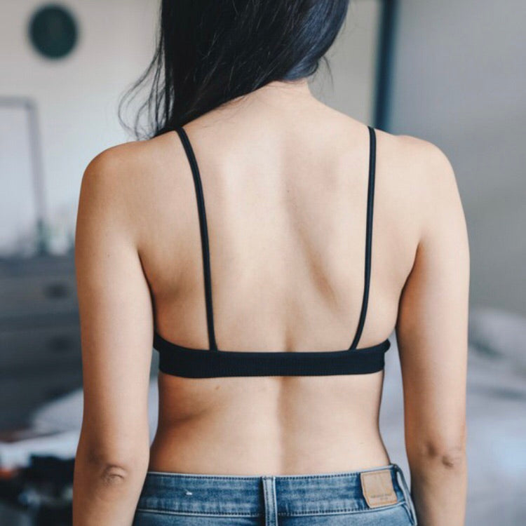 Cross Strap Plunge Bralette - Coffee Clothing Company