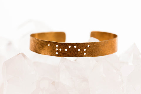 Zodiac Braille Bracelet :: Aries