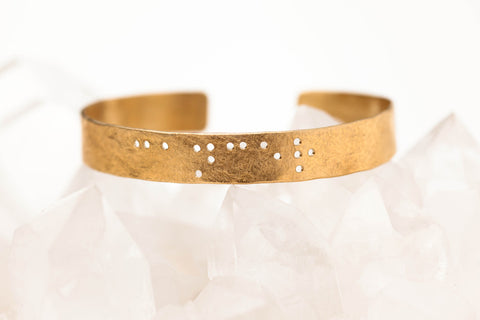 Zodiac Braille Bracelet :: Cancer