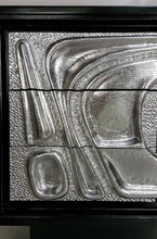 Load image into Gallery viewer, Sculptural Ebonized Credenza with Silver Leafed Front