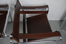 Load image into Gallery viewer, Classic Pair of 1977 Dark Chocolate Marcel Breuer Wassily Chairs for Knoll