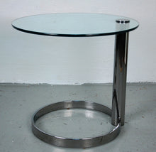Load image into Gallery viewer, Pace Collection Pair of Chrome and Glass Side Tables