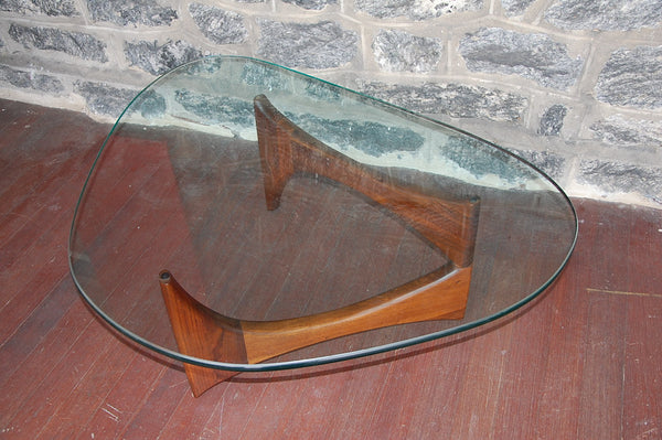 ADRIAN PEARSALL SCULPTURAL WALNUT BOWTIE COFFEE TABLE MID-CENTURY