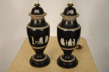 Load image into Gallery viewer, Wedgewood Style Pair of Classical Urn Lamps