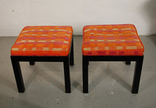 Load image into Gallery viewer, Directional Pair of Upholstered Parsons Style Stools