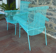 Load image into Gallery viewer, French Pair of Iron Patio Chairs Mid Century