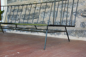 George Nelson Style Wrought Iron Sofa