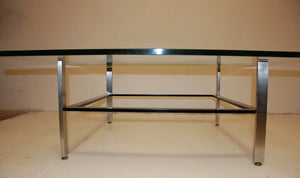 Poul Kjaerholm Style Stainless Steel Coffee Table