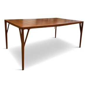 Helge Vestergaard-Jensen Dining Table in Teak with Three Leaves Midcentury