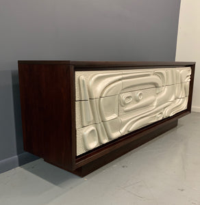 Brutalist Mid Century Credenza Philip Lloyd Powell Style