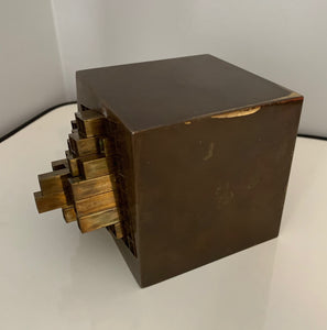 Aiko Miyawaki Brass Puzzle, Sculpture Desk Accessory Midcentury