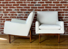 Load image into Gallery viewer, Pair of Jens Risom Walnut Lounge Chairs, 1953 Mid century