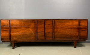 Jens Risom Rosewood Midcentury Dresser with Extraordinary Grain