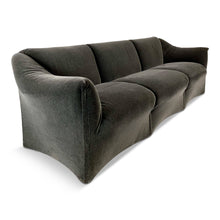 Load image into Gallery viewer, Cassina Tentazione Sofa by Mario Bellini in Charcoal Mohair Midcentury