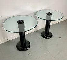Load image into Gallery viewer, Kaiser-Newman Aluminum, Glass and Porcelain Drinks Tables a Pair