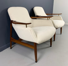 Load image into Gallery viewer, Finn Juhl, a Pair of NV 53 Armchairs from Niels Vodder