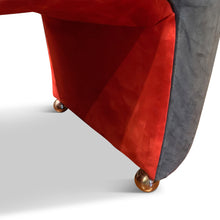 Load image into Gallery viewer, Post-modern Leather Lounge Chair and Ottoman by Renown Designer Robert Tiffany