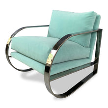 Load image into Gallery viewer, Mid-Century Chrome Lounge Chair Designed by John Mascheroni for Swaim