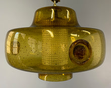 Load image into Gallery viewer, Erik Hoglund Large Hand Blown Pendant, Sweden Midcentury