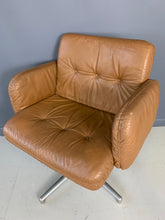 Load image into Gallery viewer, Harvey Probber Leather and Aluminum Executive Chair
