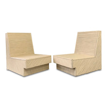 Load image into Gallery viewer, Split Reed Bamboo Lounge Chairs a Pair Mid Century