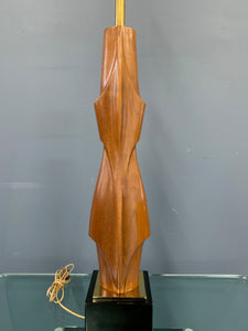 Mahogany Figural Midcentury Lamp by Laurel Lamp Co.