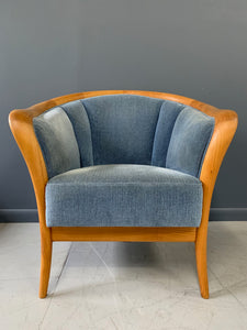 Danish Mid-Century Birch Armchair