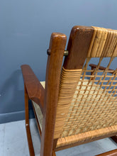 Load image into Gallery viewer, Hans Olsen Teak and Cane Lounge Chair for Juul Kristensen Mid-Century