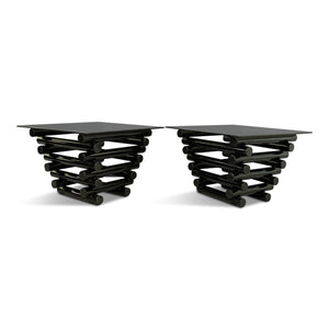 Mid Century Tiered Tubular End Tables