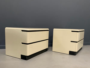 Post-Modern 1980s Lacquered Nightstands by Roger Rougier