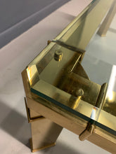 Load image into Gallery viewer, Mastercraft 1980s Brass and Glass Coffee Table Mid-Century