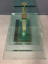 Load image into Gallery viewer, Postmodern Console Table in Glass and Brass By DIA