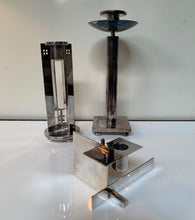 Load image into Gallery viewer, Silver Candleholders Set of Three by Richard Meier for Swid Powell